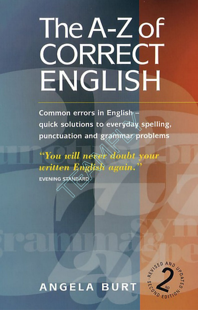 The A-Z of Correct Grammar PDF for Free